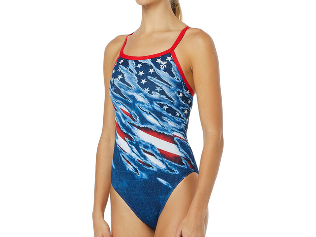TYR Live Free Diamondfit Uimapuku Naiset, red/white/blue